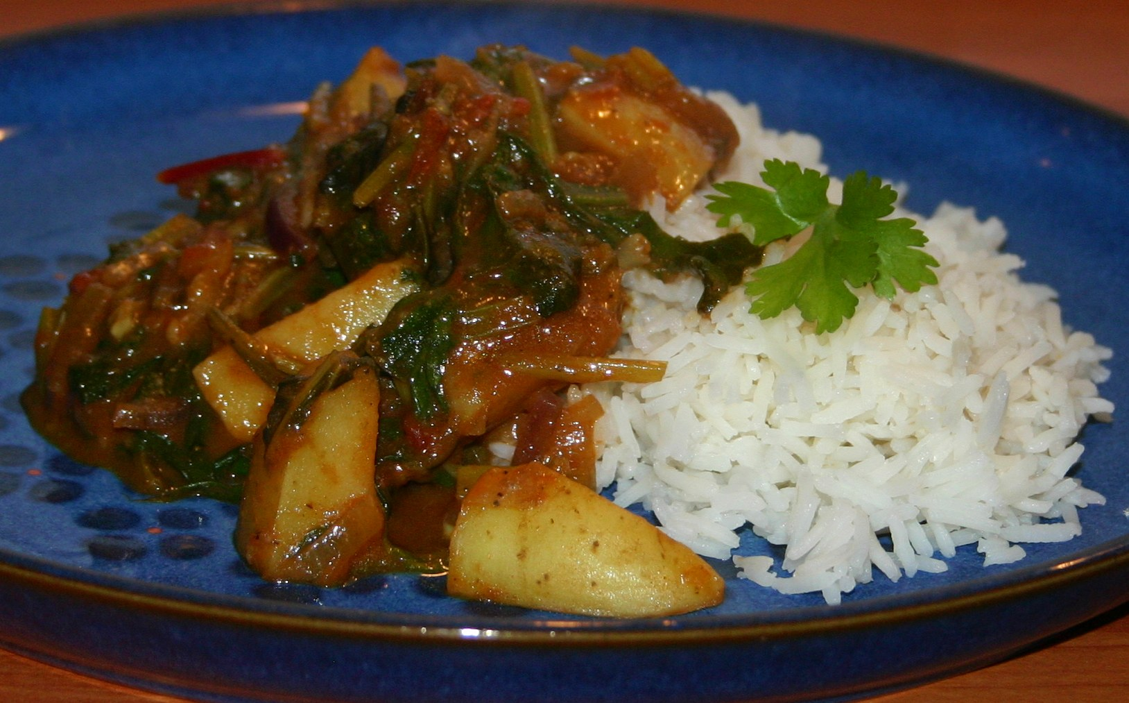 Chard and New Potato Curry | Words and Herbs