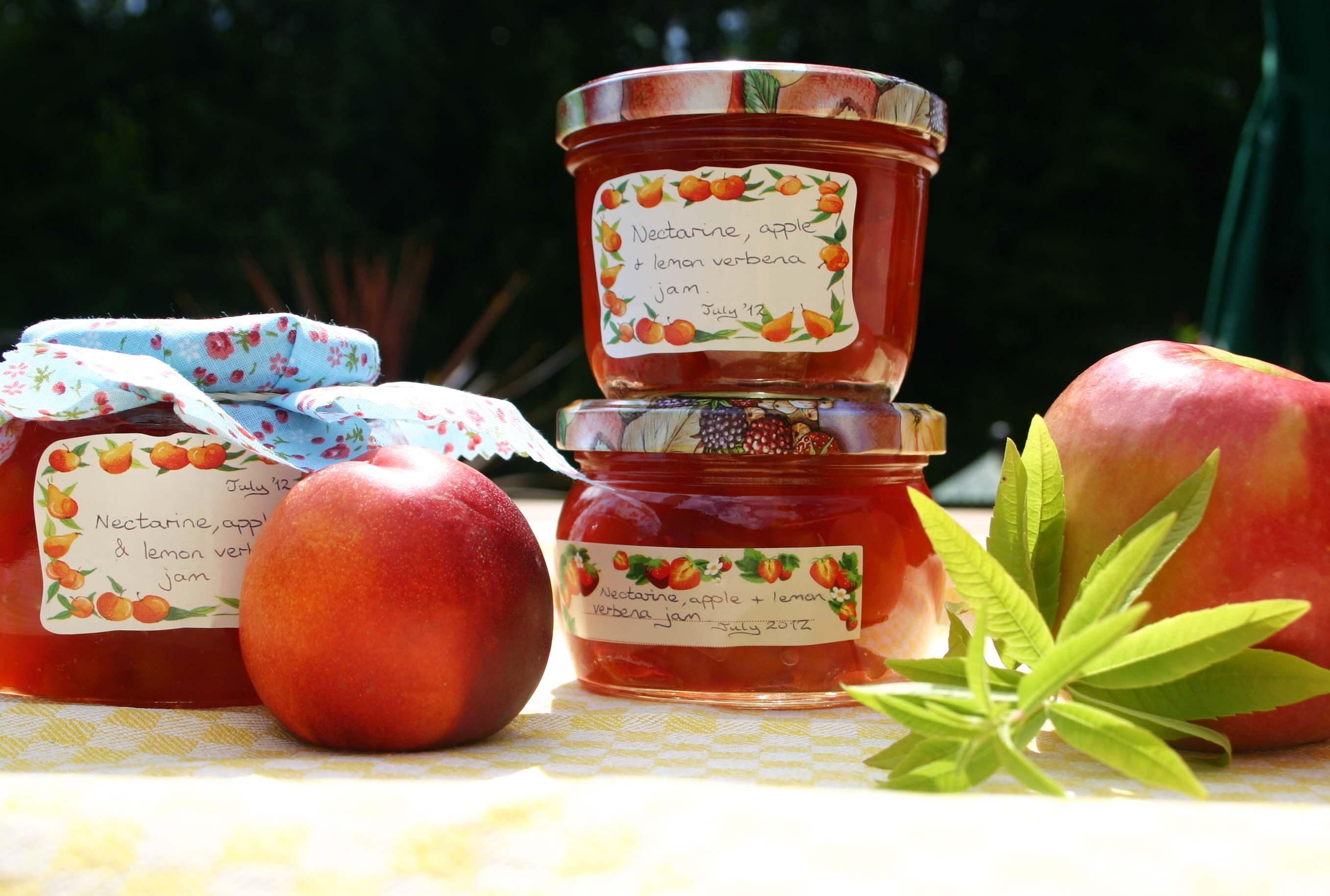 Nectarine and Lemon Verbena Jam | Words and Herbs